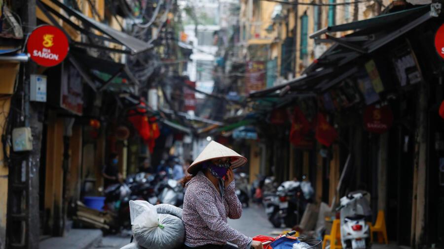 Một góc phố Hà Nội trong giao đoạn cao điểm dịch virus corona, ngày 26/03/2020.