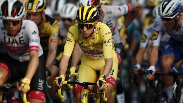Slovenian Tadej Pogacar, September 20, 2020, the day of his victory in the Tour de France.