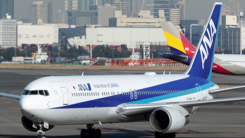 Một chiếc Boeing 767-300 của hãng hàng không Nhật Bản chuẩn bị hồi hương các công dân Nhật tại Vũ Hán, Trung Quốc, ngày 30/01/2020.
