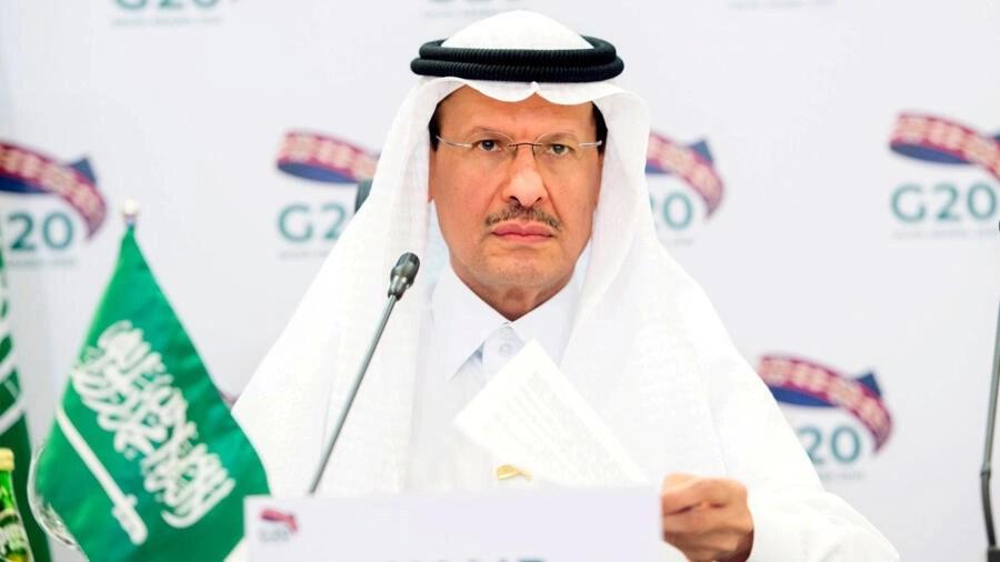 Bộ trưởng Năng Lượng Ả Rập Xê Út, hoàng tử Abdulaziz bin Salman Al-Saud phát biểu trong cuộc họp khẩn cấp qua video với các bộ trưởng thuộc nhóm G20 ngày 10/04/2020.