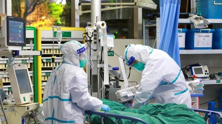 Một bệnh viện tại Vũ Hán, Trung Quốc, đang chăm sóc bệnh nhân nhiễm siêu vi corona, ngày 28/01/2020