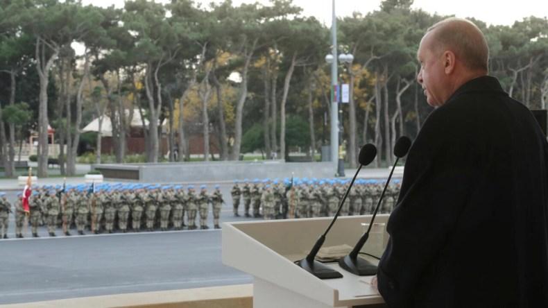 دوغان در سخنانی در مراسم رژه نیروهای مسلح آذربایجان در باکو