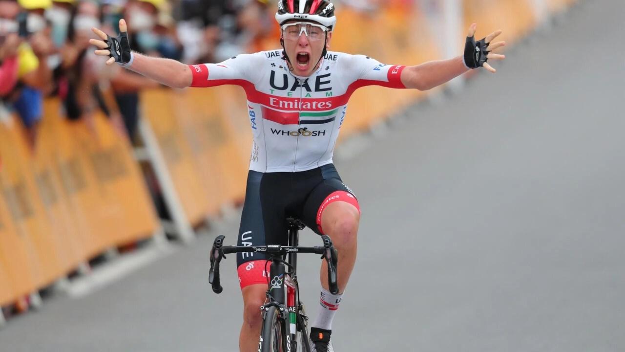 roglic takes overall tour de france
