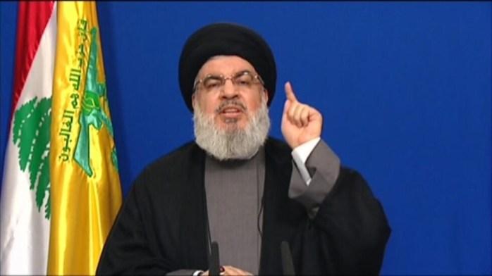 حسن نصرالله رهبر حزب الله لبنان.