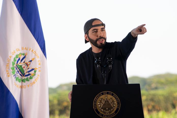 Salvadoran President Nayib Bukele on July 18, 2020 in San Nicolás Lempa, El Salvador