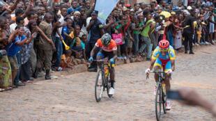 During the Tour of Rwanda 2019.