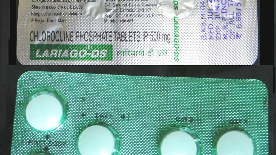 Une plaquette de comprimés de chloroquine.