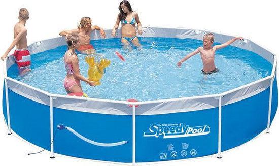 Speedy Pool Stalen Frame Zwembad Cm Incl Ingebouwde Pomp