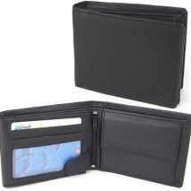 Zwarte Portemonnee met flap