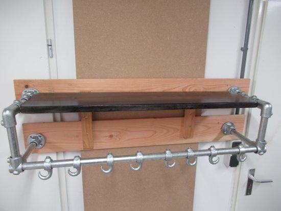 free douglas houten wandkapstok with kapstok roede with