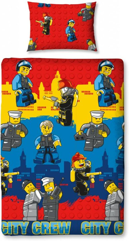 bolcom  LEGO Dekbedovertrek City Crew  Wonen