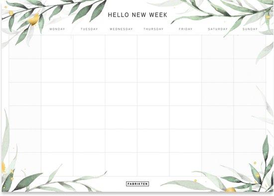 bol.com   Fabrikten Botanisch Goud Weekplanner