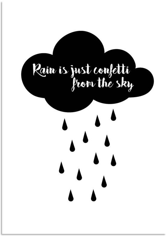 bolcom  Tekst Poster Rain is just confetti from the sky