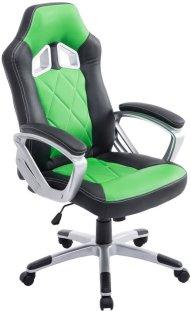 Clp Racing bureaustoel MORGAN XL Sport seat Racing - Gaming chair - zware belasting, ergonomisch - zwart/groen,