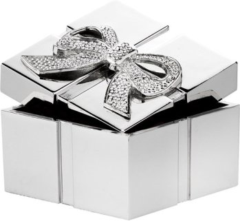 Gift Items - Verzilverd geschenkdoosje cadeau