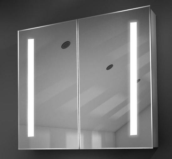 Populaire Spiegelkast Met Verlichting Verwarming En Stopcontact 80x70 Cm
