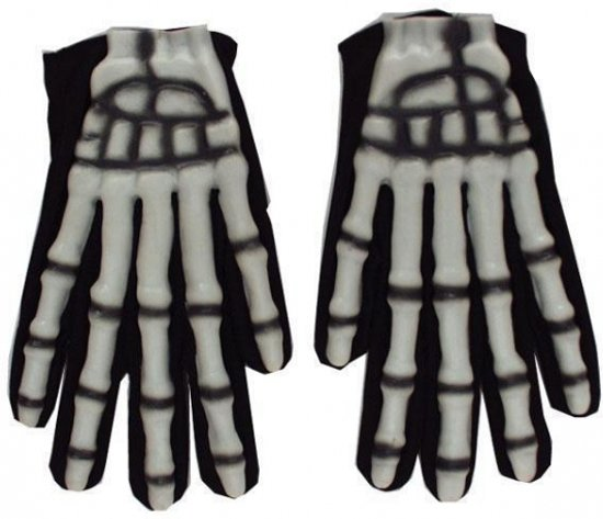 bolcom  Halloween Skelet handschoenen glow in the dark