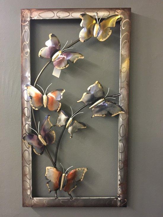 bolcom  Wanddecoratie metaal vlinders