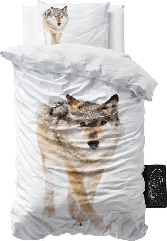bolcom  Sleeptime Snow Wolf  Dekbedovertrek