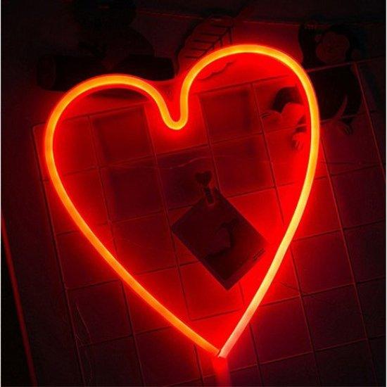 bolcom  Hartje rood lamp led verlichting neon look hart