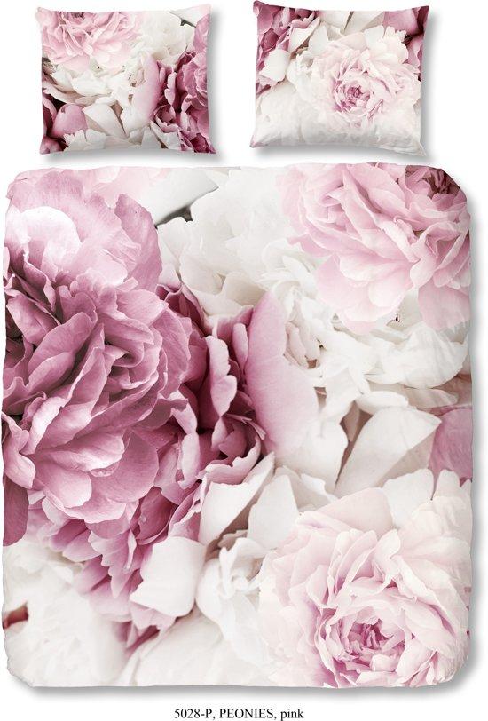 bolcom  2 persoons dekbedovertrek met pioenrozen roze