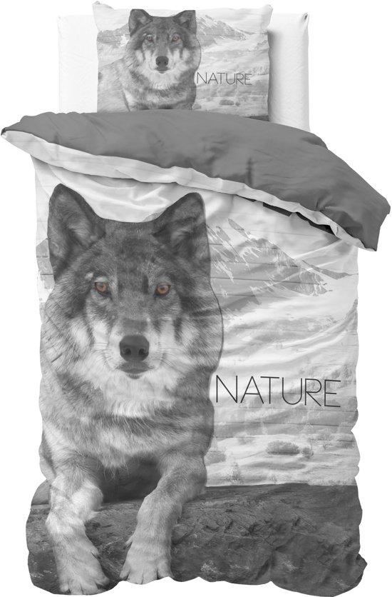 bolcom  Sleeptime Wolf Nature  Dekbedovertrek