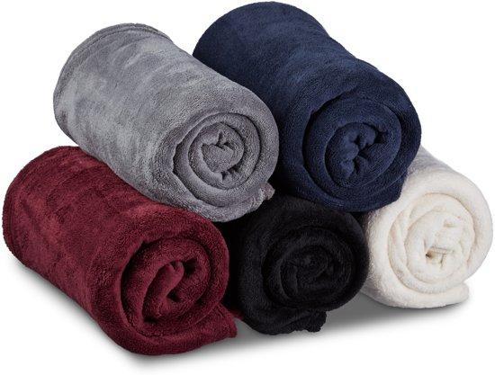 bolcom  relaxdays  fleece deken groot  verschillende