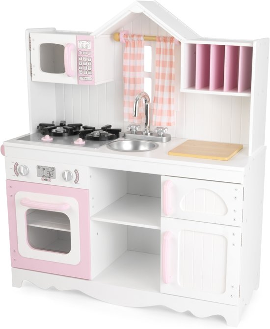 kidcraft vintage kitchen beach decor bol.com | kidkraft moderne country houten keukentje ...