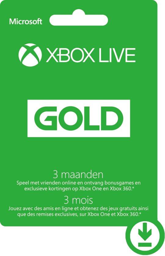Microsoft Xbox Live Gold Abonnement 3 Maanden - Xbox 360 + Xbox One