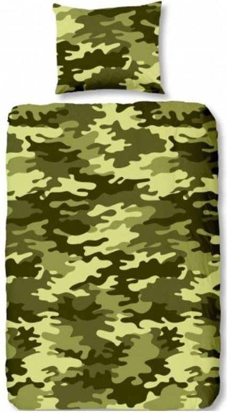 bolcom  Camouflage dekbedovertrek  Green  1persoons