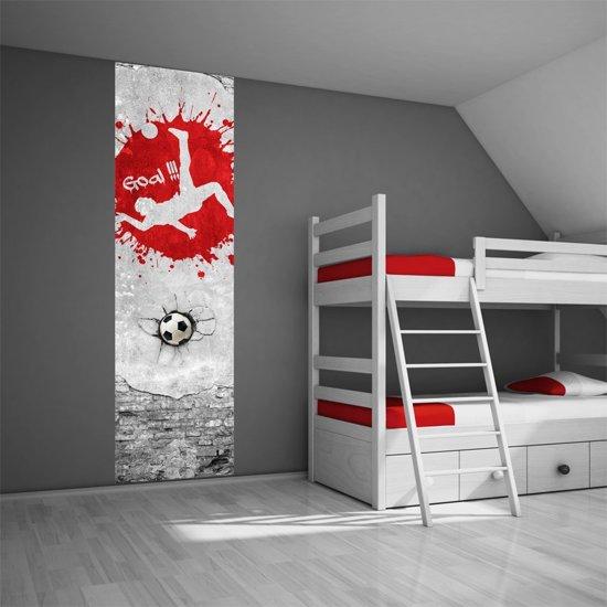 bolcom  Voetbal behang paneel rood