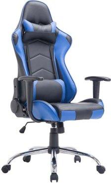 Clp Racing bureaustoel MIRACLE Sport seat Racing, Gaming chair - zware belasting tot 150 kg, ergonomisch - zwart/blauw,