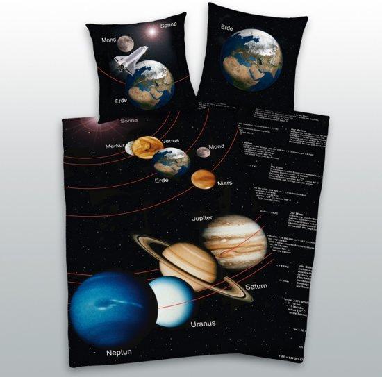 bolcom  Earth Planet dekbedovertrek  Zwart  1persoons