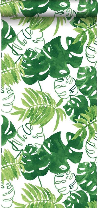 bolcom  HD vliesbehang geschilderde tropische jungle