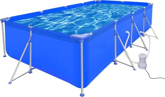 Opbouw Zwembad Met Stalen Frame En Pomp X Cm