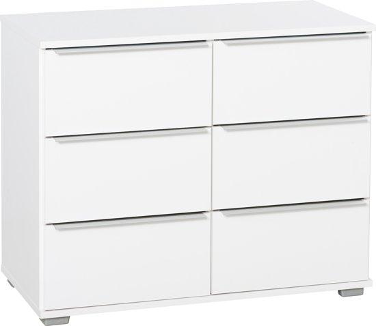 bolcom  True Furniture Malaga  Ladekast 6 laden  Wit