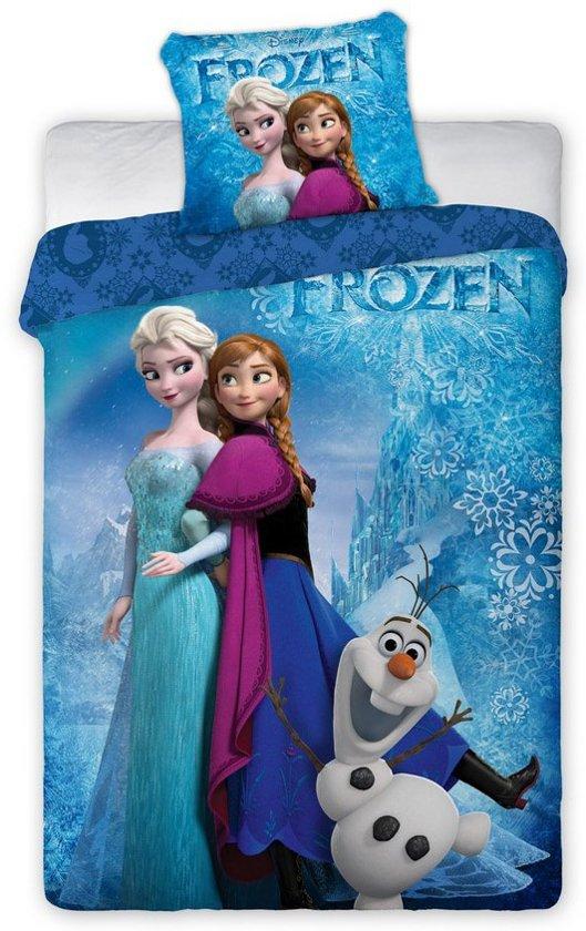 Disney Frozen - Dekbedovertrek - Eenpersoons - 140x200cm - Blauw