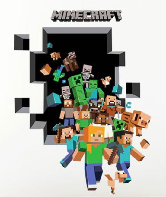 bolcom Minecraft muursticker figuren