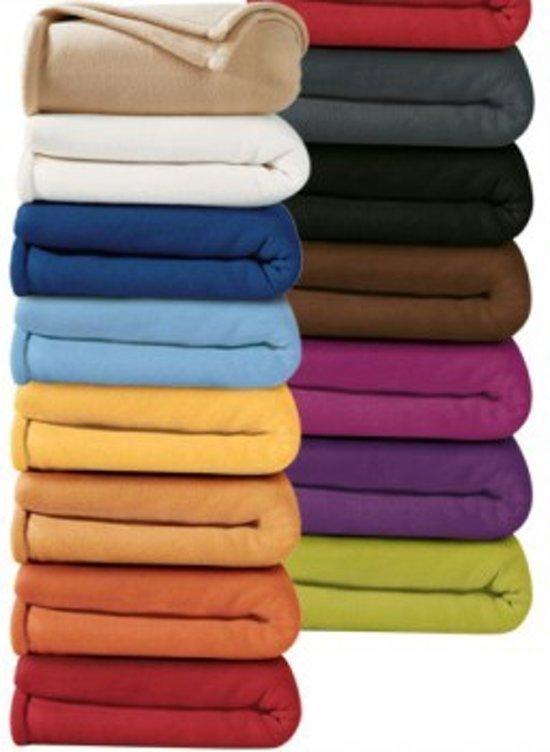 bolcom  Fleece deken 180x240  Licht Blauw kleur  100