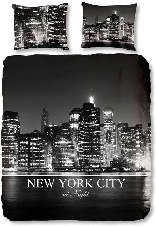 bolcom  New York City dekbedovertrek  Zwart  Lits