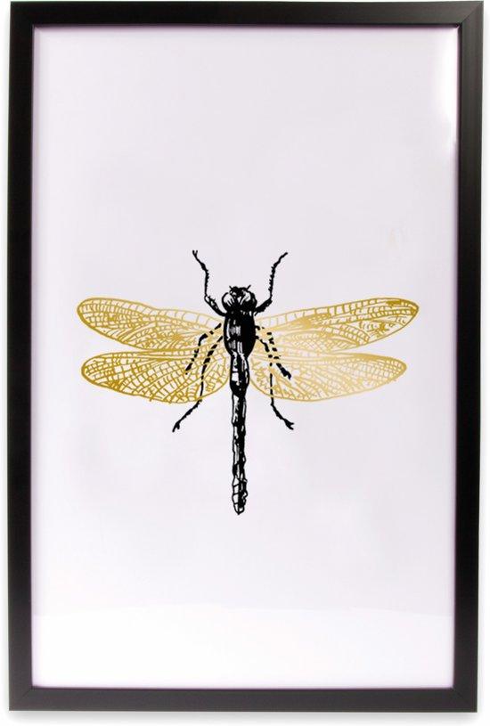 bolcom  Art for the Home  Schilderij  Libelle  Zwart