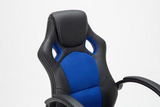 Clp Gaming-stoel - Racing bureaustoel FIRE - Sport seat Racing design - blauw