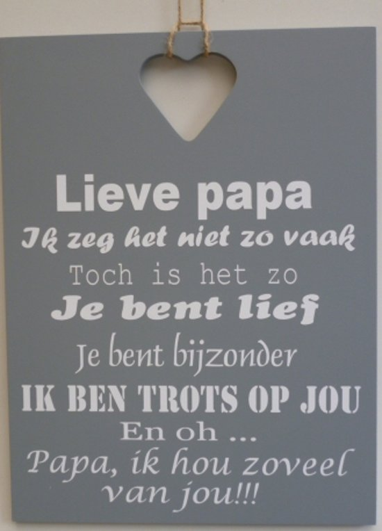bolcom  Tekstbord lieve papa grijs