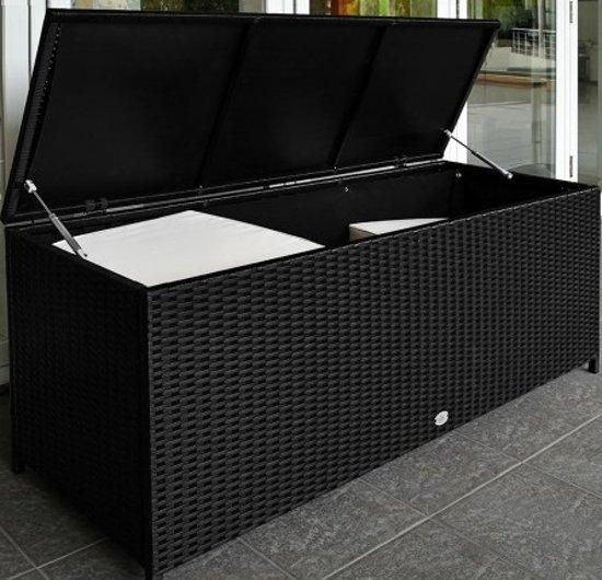 bolcom  Wicker Opbergbox XL kussens in zwart