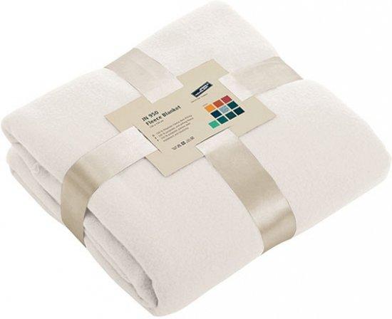 bolcom  Fleece deken gebroken wit