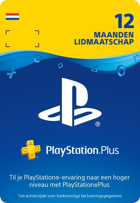PlayStation Plus 12 maanden - PSN Playstation Network Kaart (NL)