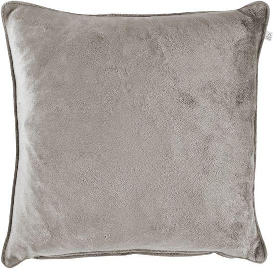 bolcom  Kussenhoes Velvet 45x45 cm lichtgrijs