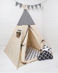 bol.com | FUJL Tipi Tent - Speeltent - Wigwam - Zwart / Wit