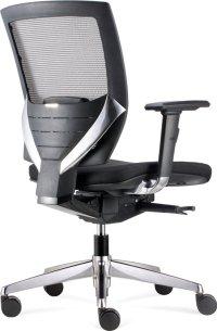 BenS 807MC (Zwarte uitvoering), Luxe ergonomische bureaustoel met vele instelmogelijkheden, zoals zitdiepte, lendesteun, armleggers, etc. Uitgevoerd met een Donati mechaniek en gepolijst aluminium voetenkruis.