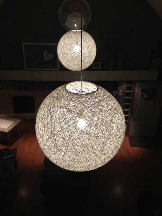 bolcom  WL Abaca  Hanglamp  35 cm  Wit